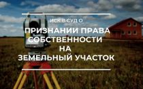 Иск в суд о признании права собственности на земельный участок, образец