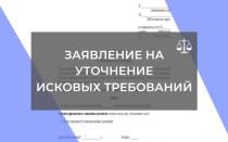 Как составить заявление об уточнении исковых требований в суд