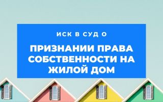 Иск о признании права собственности на дом: образец, госпошлина