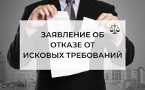 Отказ от исковых требований — как составить заявление в суд